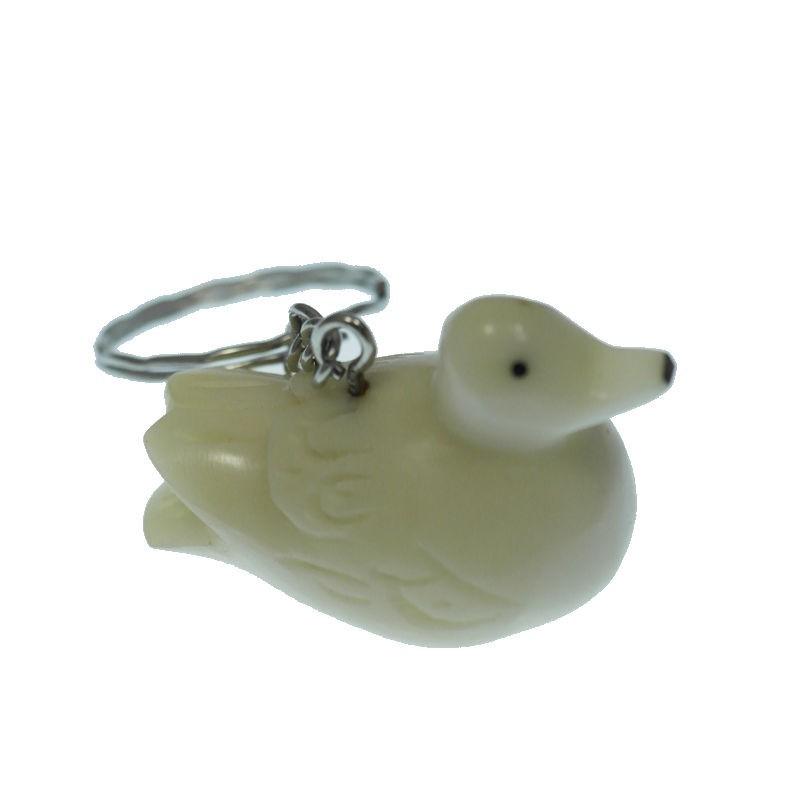 Porte clé canard tagua