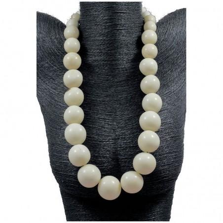 Immortelle Collier perles de tagua