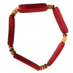 Bracelet Homme perles (aiguillette) en Tagua Teintées et naturelles